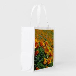 California Poppies Reusable Grocery Bag