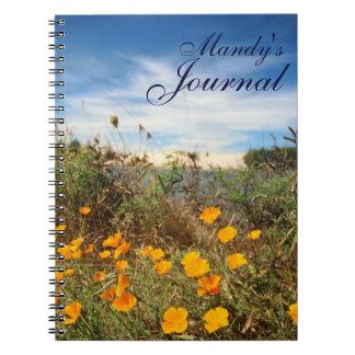 California Poppies Sand Dunes Notebook