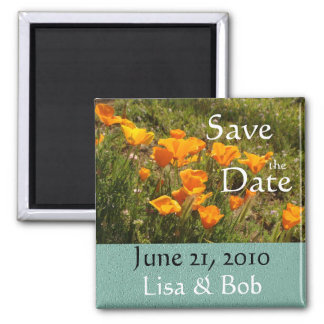 California Poppies Save the Date Magnet