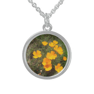 California Poppies Sterling Silver Necklace