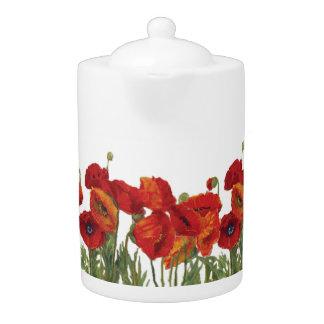 California Poppies Teapot