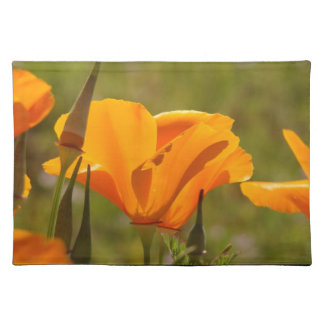 California Poppies Wildflowers Placemat Cloth Placemat