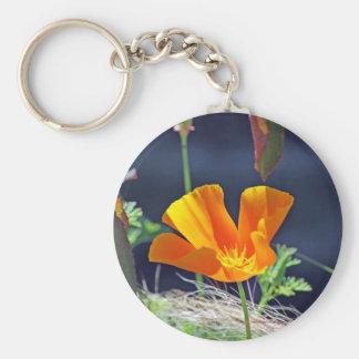 California Poppy Basic Round Button Keychain