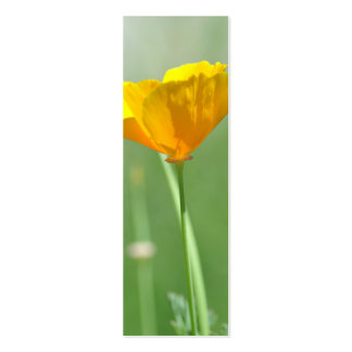 California poppy bookmark business card template