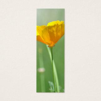 California poppy bookmark mini business card