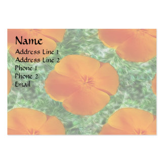 California Poppy Large Business Cards (Pack Of 100)