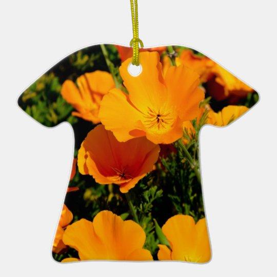 """California Poppy"" Ceramic Ornament"