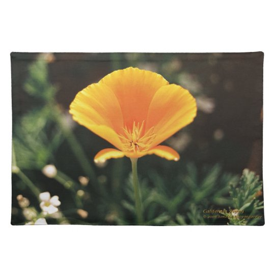California Poppy Cloth Placemat