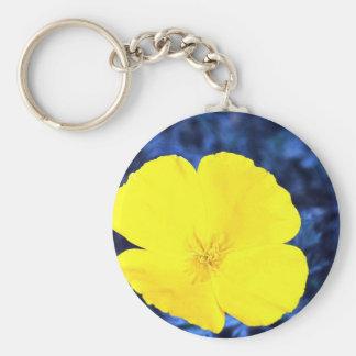 California poppy (Eschscholtzia californica) Basic Round Button Keychain