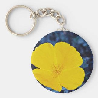 California poppy (Eschscholtzia californica)  flow Basic Round Button Keychain