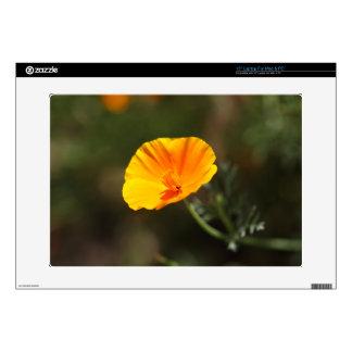 "California Poppy (Eschscholzia californica) 15"" Laptop Skin"