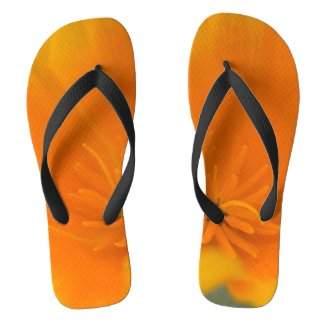 California Poppy Flip Flops