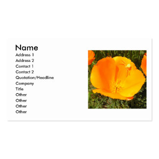California Poppy Flower Double-Sided Standard Business Cards (Pack Of 100)