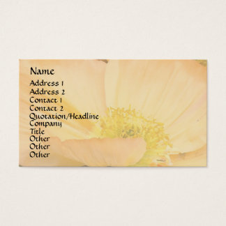 California Poppy Flowers Floral Wildflowers Business Card