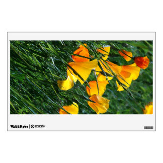 California Poppy Flowers Wall Decal