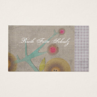 California poppy Gold color business card