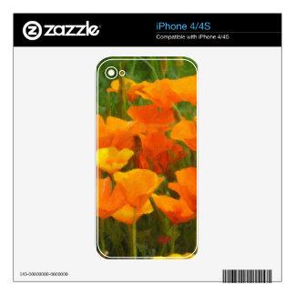 california poppy impasto decals for the iPhone 4S
