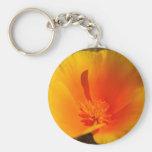 California Poppy keychain