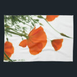 "California Poppy Kitchen Towel<br><div class=""desc"">Beautiful California Poppies on a 16x24 cotton twill kitchen towel.</div>"