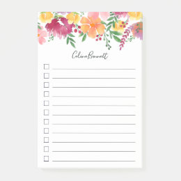 California Poppy Lined To Do List Post-it Notes