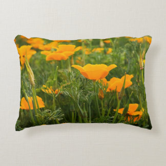 California Poppy Patch Photograph Decorative Pillow