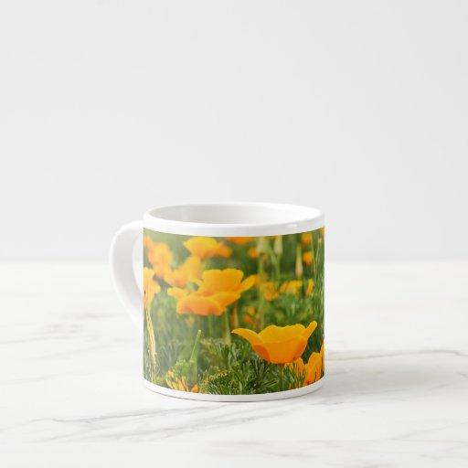 California Poppy Patch Photograph Espresso Cups