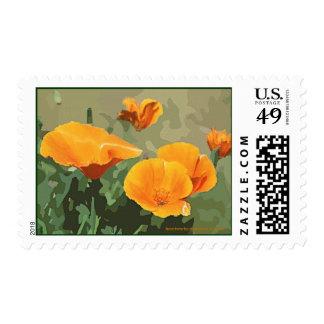California Poppy Postage Stamp