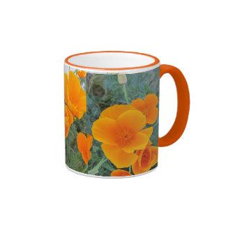 California Poppy Ringer Mug