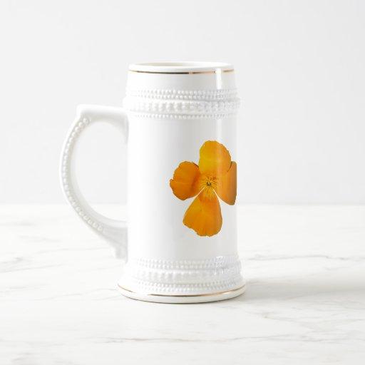 California Poppy Stein Mugs