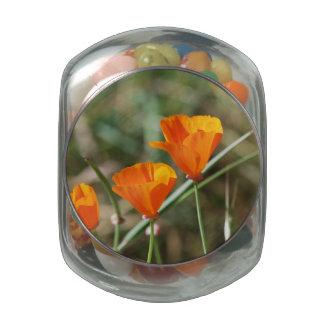 California Poppy Trinity Jelly Belly Candy Jar