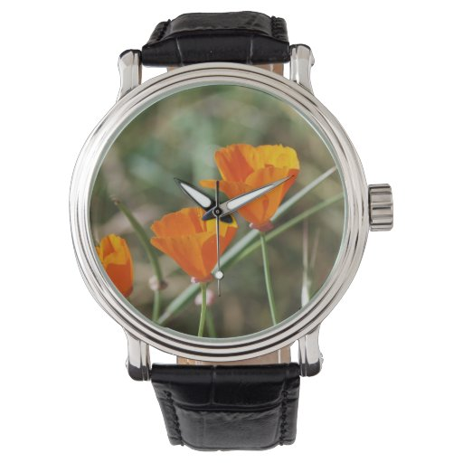 California Poppy Trinity Wristwatches