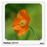 Spring Poppy Flowers Leaf Red Green Blue Yellow Wall Decor from