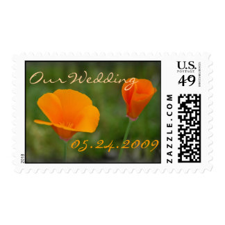 California Poppy Wedding Stamps