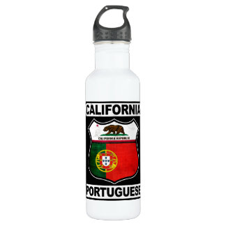 California Portuguese American 24oz Water Bottle