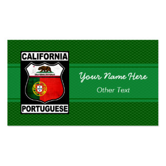 California Portuguese American Business Cards