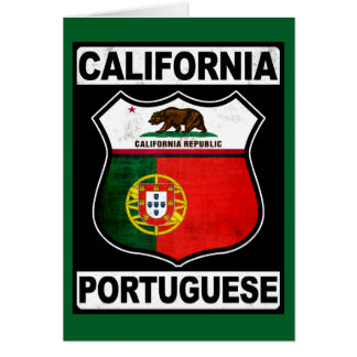 California Portuguese American Greeting Card