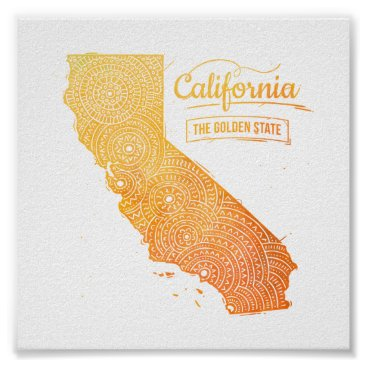 USA Themed California Poster
