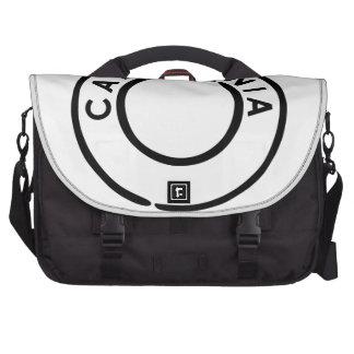 California postmark Design Laptop Bags