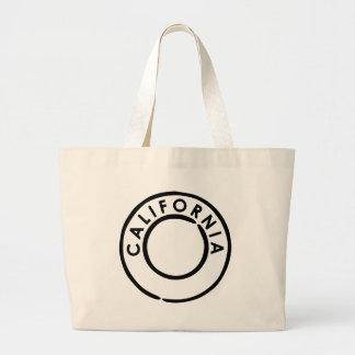 California postmark Design Large Tote Bag