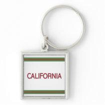 California Premium Square Keychain