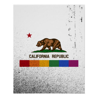 CALIFORNIA PRIDE FLAG -.png Poster