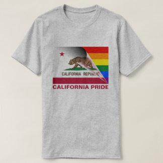 California Pride LGBTQ Rainbow Flag T-Shirt