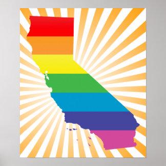 california pride. striped. poster
