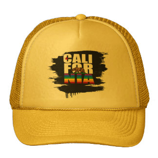 CALIFORNIA PRIDE WHITE TRUCKER HAT
