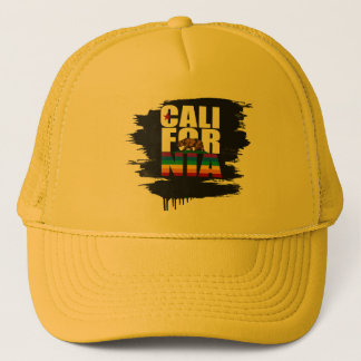 CALIFORNIA PRIDE WHITE TRUCKER HAT