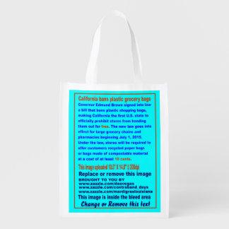 California prohíbe la opinión plástica de bolsos bolsa de la compra
