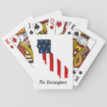 "California Proud USA Bold Watercolor American Flag Playing Cards<br><div class=""desc"">California Proud USA Bold Watercolor American Flag Playing Cards A Red, White, and Blue Watercolor American Flag lets you show your pride for being both Californian and American! Customize with your own name or delete the words for a simpler, patriotic image. Designed by Pro Designer BK Thompson for Kate&#39;s Creations;...</div>"