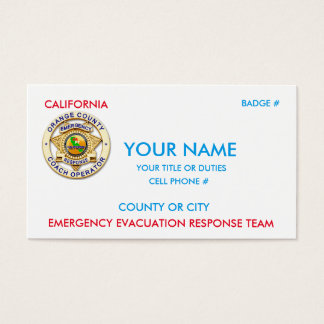 California Public Transit Business Card