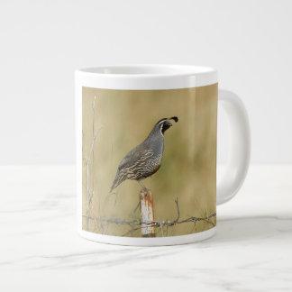 California Quail 20 Oz Large Ceramic Coffee Mug
