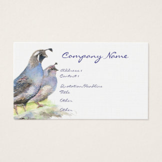 California Quail Business Card Bird Nature